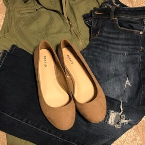 🌷 Torrid 10 Wide Almond Flats Size 10 W Shoes 🌵